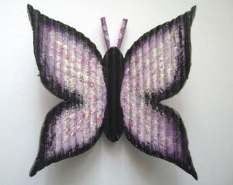 "Butterfly ""H 7 x 7"" With toothpicks and hand painted"