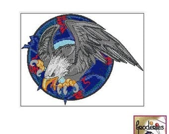Embroidery embroidery file format: majestic Eagle
