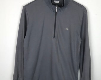 Rare!!! Vintage!!! Ellesse Long Sleeve Pullover Small Logo Half Zipper Jumper