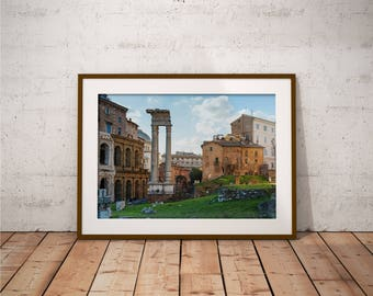 Metal Print - Old Rome, Photography - Metalic Aluminum Print, Fine Art, Wall Art, Nature Print, Home Decor, Photography