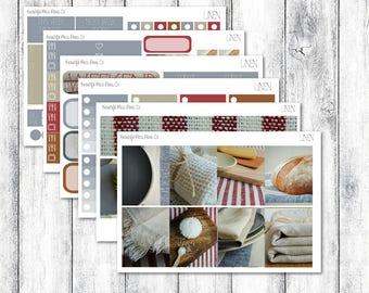 Linen // Erin Condren Vertical // Photo Sticker Kit