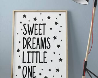 Sweet dreams little one • Printable Wall Art • Poster High Quality •