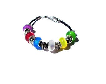 Bracelet multicolored European beads