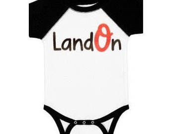 Personalized Baltimore Orioles Baby Infant Onesie