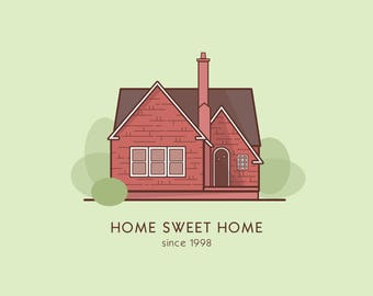 Self Print - Home Sweet Home - Custom House Illustration