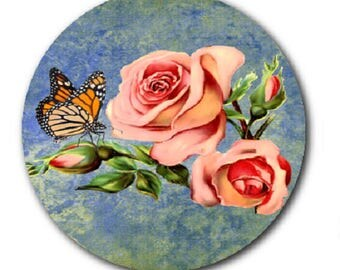 Roses and butterfly, 18mm