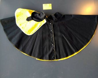 Spinning reversible skirt, removable, black and mustard yellow Pocket