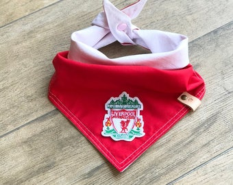 Liverpool dog bandana, dog bandana