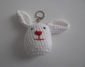 Crochet Bunny key ring