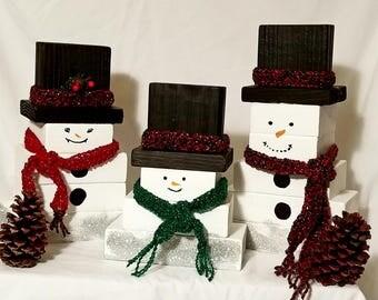 Camo & Lace Snowman Family