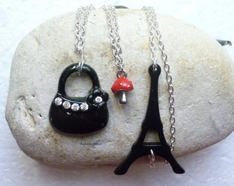 """""""Paris"""" with Eiffel Tower necklace"""