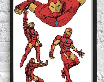 Iron Man Marvel Print A3 (297x420mm)