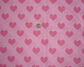 "Cotton fabric child's theme ""Hearts"""