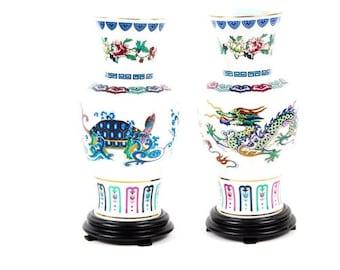 Franklin Porcelain Chinese Vases- Dance of Celestial Dragons, etc.
