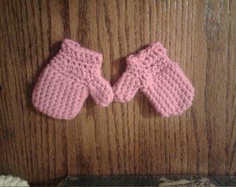 Purple toddler mittens