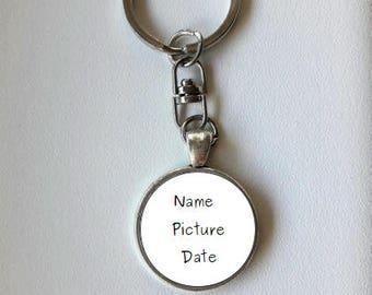 Personalized Key chain, key ring, custom jewelry, custom key ring