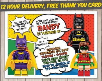 The lego batman invitation the lego batman birthday the lego lego batman invitation lego batman birthday lego batman birthday invitation lego batman party stopboris Image collections