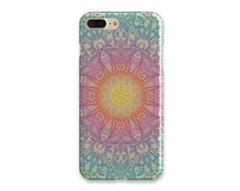 iPhone 6 Case Mandala iPhone 7 Case Clear iPhone 7 Plus Case iPhone 6 Plus Case iPhone SE Case Birthday Gift Clear With Design Gift For Her