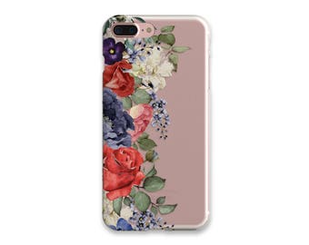 iPhone 7 Case Clear Floral iPhone 7 Plus Case Clear iPhone 6S Plus Case iPhone 6 Case iPhone SE Case Silicone iPhone Case Gift For Her
