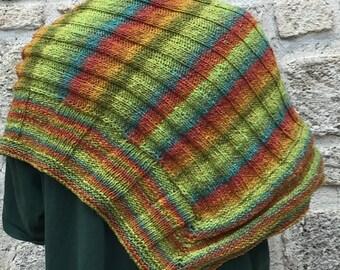 Multicolor shawl (pattern cascading shawl)