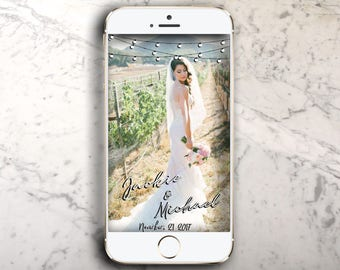 String light Wedding Snapchat Geofilter !
