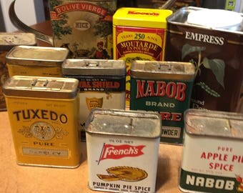 Vintage Tins - instant collection