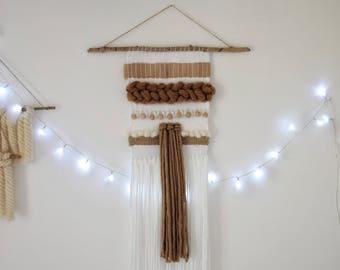 Large woven wall hanging 5 natural shades