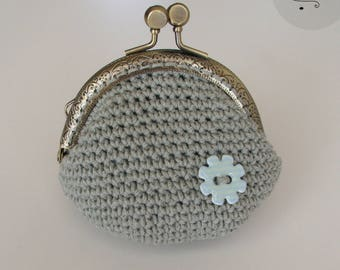 Sage Green cotton lining coin purse