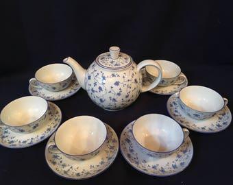 Arzberg Blue Flowers Tea Set