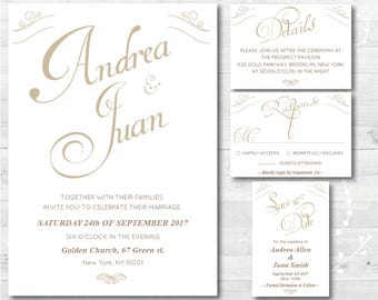 Printable Wedding Invitation Set, Customized Wedding invitations, Printable Invitation, DIY Invitation, Custom Digital Wedding Invitation