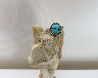 Small turquoise ring size 7