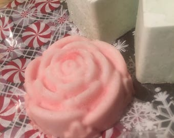 Peppermint Rose Bath Bombs