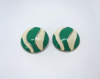 Clip on earrings | painted earrings | vintage earrings |