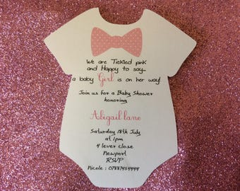 Baby vest baby shower invite