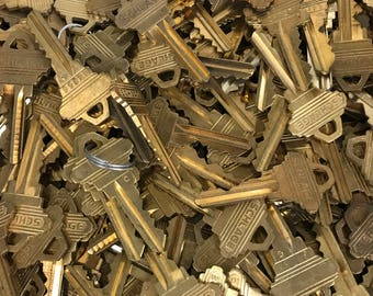 Brass Schlage Keys