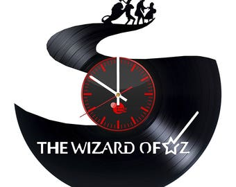 Wizard Of Oz Movie Vinyl Record Wall Clock