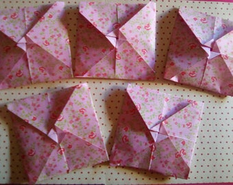 Set of mini origami envelopes