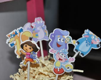 Dora Cupcake Toppers Set of 12