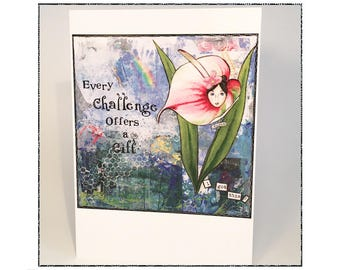 Empowering Card / personal growth mindset / goal setting/ hidden images Monet/ stress relief / direct sales / gift / anxiety relief/ persist