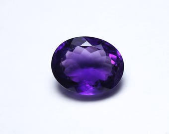 TRULY RARE AAAA++++ Natural African Amethyst Oval Faceted Gemstone Size 12.8x19.7x10.5mm Top Grade Purple Amethyst At Wholesale Price RR1