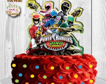 POWER RANGERS Cake Topper, Power Rangers Dino Charge Cake Topper, Power Rangers Centerpiece, Power Rangers Birthday Decoration, PRINTABLE