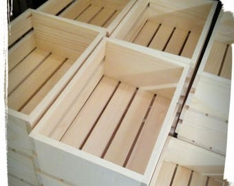 Craft wooden boxes CM 25x17x10h