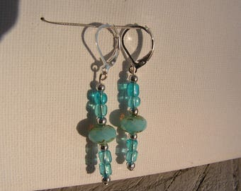 Turquoise beads earrings