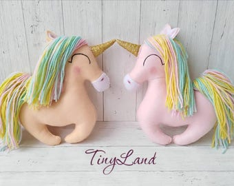 Unicorn Rainbow Unicorn Felt Pink Unicorn Baby Girl Plushies Baby Shower Gift Unicorn Toy Princess Toy Sleeping Toy Decoration Toy
