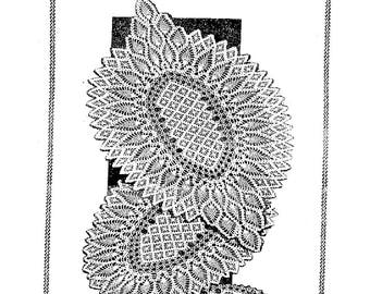PDF Crochet Pattern, Spiderwebs and Pineapples, Oval Doilies in 3 sizes
