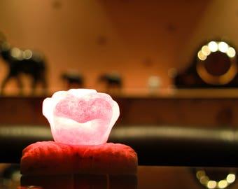 The Rose salt lamp