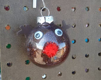 Small rudolph red nosed reindeer ornament