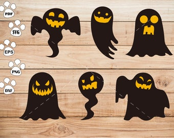 Halloween ghost svg Files, Specter svg, Happy Halloween Clipart, cricut, cameo, silhouette cut files commercial use