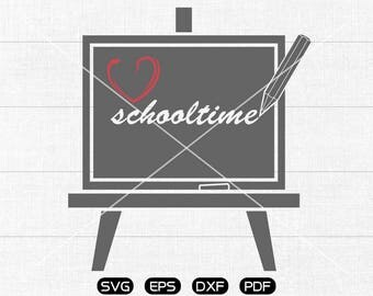 Blackboard SVG File, chalkboard SVG , schooltime Clipart, cricut, cameo, silhouette cut files commercial & personal use