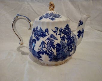 James Sadler Teapot Blue Willow Teapot